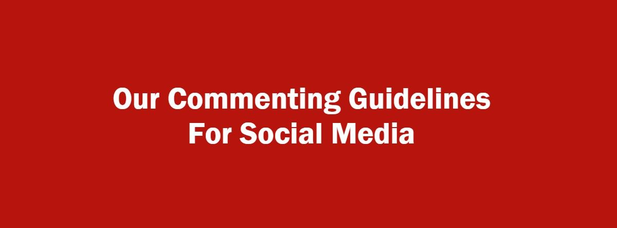 Social Media Commenting Guidelines Page Banner