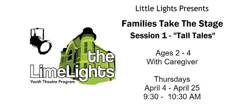 CLICK HERE for more information and registration for Families Take The Stage: Tall Tales