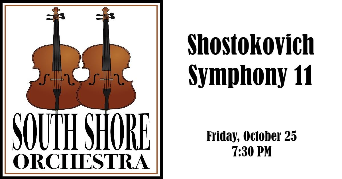 South Shore Orchestra Shostokovich Symphony 11 Concert Event Page Banner