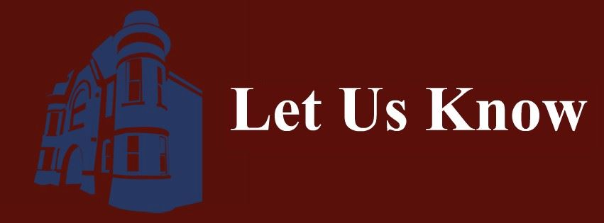 Let Us Know Page Banner